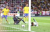 UEFA EURO 2012 game Sweden vs England — Stock Photo