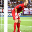 Goalkeeper Joe Hart of England in action — Stock Photo