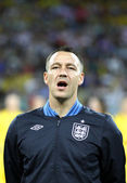 John Terry of England sings the national anthem — Stock Photo