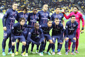 FC Paris Saint-Germain team pose for a group photo — Stock Photo