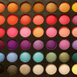 Professional multicolour eyeshadows palette - Foto Stock