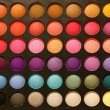 Professional multicolour eyeshadows palette - Stock Photo