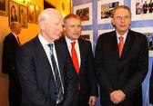 Patrick Joseph Hickey, Grygorii Surkis and Jacques Rogge — Stock Photo
