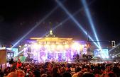 New Year celebrations in Berlin, Germany — Stock Photo