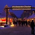 Walking during Christmas market at Gendarmenmarkt square — Stock Photo #17341935