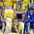 Stock Photo: Swedish soccer fans