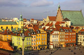 Old Town Square (Plac Zamkowy) in Warsaw — Photo
