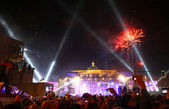 New Year celebrations in Berlin, Germany — Stock Photo
