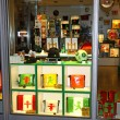 Shop window of Ampelmann (symbolic person shown on traffic lights) store in Berlin, Germany — Stock Photo