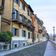 Embankment of Adige river in Verona — Stock Photo