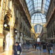 Galleria Vittorio Emanuele shopping Center in Milan, Italy — Stock Photo