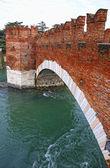 Ponte di Pietra Bridge in Verona — Stock Photo