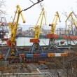 Industrial landscape of Odessa port - Stock Photo