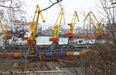 Industrial landscape of Odessa port — Stock Photo