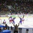 Ice-hockey game Ukraine vs Poland — Stock Photo