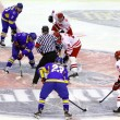 Ice-hockey game Ukraine vs Poland — Stock Photo #18908225