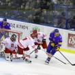 Ice-hockey game Ukraine vs Poland — Stock Photo #18908231
