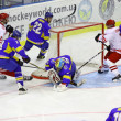 Ice-hockey game Ukraine vs Poland — Stock Photo #18908233
