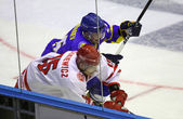 Ice-hockey game Ukraine vs Poland — Stock Photo