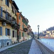 Embankment of Adige river in Verona, Italy - Stock Photo