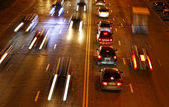 Night road traffic — Stock Photo