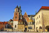 Wawel Castle complex in Krakow — Stock Photo