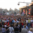 Charity Anti-AIDS concert at the Independence Square in Kyiv - Stock Photo