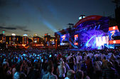 Charity Anti-AIDS concert at the Independence Square in Kyiv — Stock Photo