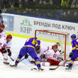 Ice-hockey game Ukraine vs Poland - Stock Photo