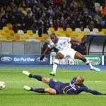 UEFA Champions League game between PSG and FC Dynamo Kyiv — Stock Photo