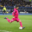 Постер, плакат: Goalkeeper Salvatore Sirigu of FC Paris Saint Germain in action