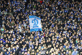 FC Dynamo Kyiv fans support their team — Stock Photo