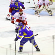 Ice-hockey game Ukraine vs Poland — Stock Photo #21235157