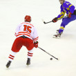 Ice-hockey game Ukraine vs Poland — Stock Photo #21309681