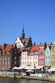 La ciudad de gdansk, polonia — Foto de Stock