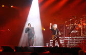 Queen With Adam Lambert Perform Onstage During Charity Concert In Kyiv — Stock Photo