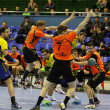 Handball game Ukraine vs Netherlands — Stock Photo