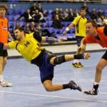 гандбол игра Украина против Нидерландов — Стоковое фото #23549763