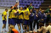 Handball game Ukraine vs Netherlands — Stock Photo