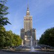 Palace of Culture and Science in Warsaw — Stock Photo #24495863