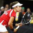 FedCup tennis game Ukraine vs Canada — Stock Photo