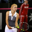FedCup tennis game Ukraine vs Canada - 图库照片