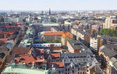 Panoramic aerial view of Malmo, Sweden — Stock Photo