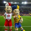Stock Photo: Slavek and Slavko, UEFEuro 2012 mascots