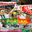 Portugal fans show their support — Stock Photo