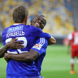 Stock Photo: Artem Kravets and Taye Taiwo of Dynamo Kyiv