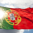 National flag of Portugal — Stock Photo