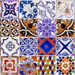 Close up traditional Lisbon ceramic tiles — Stock Photo #29136377