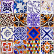 Stock Photo: Close up traditional Lisbon ceramic tiles
