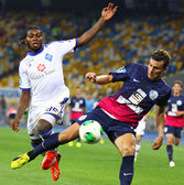 Football game FC Dynamo Kyiv vs FC Sevastopol — Foto Stock